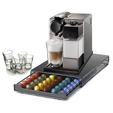DeLonghi Nespresso Lattissima Touch Silver Combination Automatic Espresso And Cappuccino Machine With 60 Capsule Storage Drawer