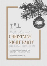 Simple Christmas Night Party Poster Template