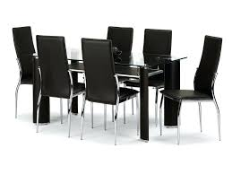 Dining Room Table Chairs Ikea by Black Faux Leather Dining Room Chairs Black Leather Dining Table