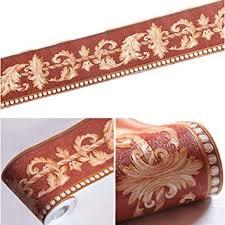brown ranunculus floral moulding tapetenbordüre peel