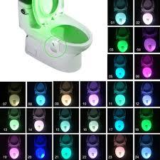 beleuchtung 16 farben toilette sitz led licht nacht