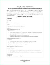 Teaching Resume Format 14