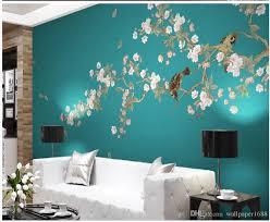 großhandel moderne tapeten für wohnzimmer blumen und vögel hintergrund wanddekoration malerei wallpaper1688 10 16 auf de dhgate dhgate