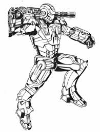 Download Coloring Pages Ironman Iron Man Free Printable