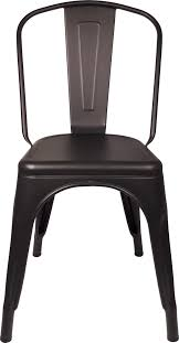 Tolix Seat Cushions Australia by Matte Black Replica Tolix Cafe Chair High Back Buy Online