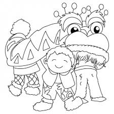 Chinese New Year Celebrations Coloring Pages