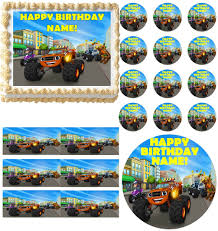 BLAZE And The MONSTER MACHINES Edible Cake Topper Image Frosting ... 80 Off Sale Monster Jam Straw Tags Instant Download Printable Amazoncom 36 Pack Toy Trucks Pull Back And Push Friction Jam Sticker Sheets 4 Birthdayexpresscom 3d Dinner Plates 25 Images Of Template For Cupcake Toppers Monsters Infovianet Personalised Blaze And The Monster Machines 75 6 X 2 Round Truck Edible Cake Topper Frosting 14 Sheet Pieces Birthday Party Criolla Brithday Wedding Printables Inofations For Your Design Pin The Tire On Party Game Instant