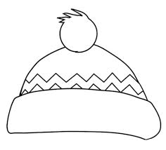 Hat Coloring Pages Printable Ideas Inside Winter Page