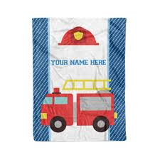 100 Toddler Fire Truck Bedding Amazoncom Personalized Custom Truck Fleece And Sherpa Throw