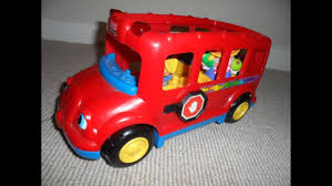 100 Fisher Price Fire Truck Ride On Little People Lil Movers Rare Red School Bus Toy YouTube