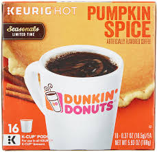 Pumpkin Latte Dunkin Donuts by Dunkin Donuts K Cups Pumpkin Flavor Box Of 12 Kcups For Use In