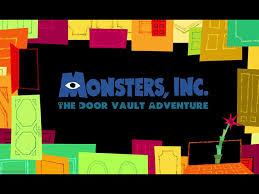 Ride proposal Monsters Inc The Door Vault Adventure on Behance