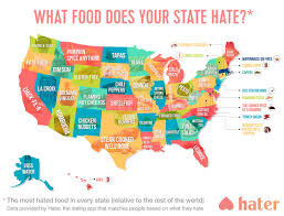 Keurig 20 Pumpkin Spice Latte by This Hilarious Map Shows The Most Hated Food In Each State