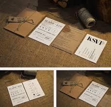 Kraft Paper Wedding Invitation By Adrimdesign On Etsy