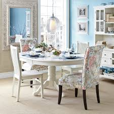 angela blue floral dining chair with espresso wood dining chairs