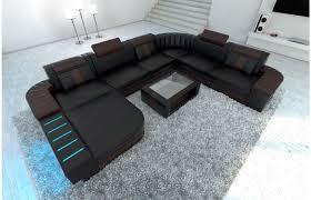 wohnlandschaft bellagio leder wohnen sofa design