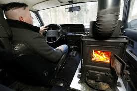 Swiss Guy Installs Wood Stove As Heater In His Volvo Beats The Cold