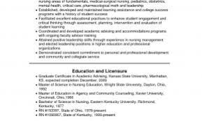 Sample Resume Undergraduate Nursing Student Awesome College Examples
