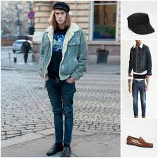 Denim On 70s Street Style Outfit Grid