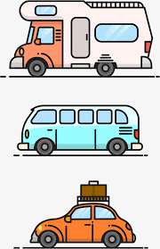 Cute Travel Car Vector RV Camping By Vacation Free PNG And