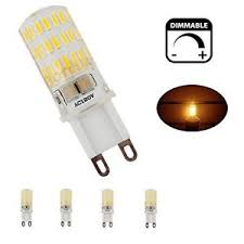 bonlux 4 pack 5w dimmable g9 led light bulb t4 xenon replacement