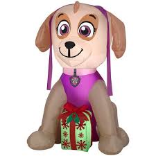 Walmart Canada Halloween Inflatables by Paw Patrol 4 U0027 Inflatable Skye With Present Walmart Canada
