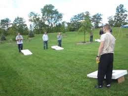 My Sons Playing Adult Corn Hole Bean Bag Toss Game 9 23 2012 Video 2