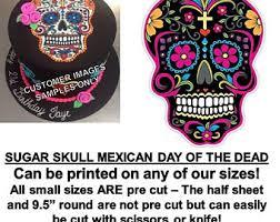 Easy Sugar Skull Day Of by Skull Cake Topper Etsy