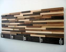 Modern Wood Coat Rack Rustic Hooks Home Decor