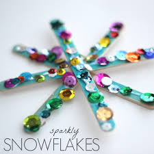 I Pre Glued About One Hundred Snowflakes For A Recent Preschool Pancake Breakfast Loved Watching The Kids Decorate Their Popsicle Sticks