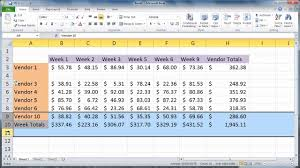 Excel 2010 Insert Rows And Columns YouTube