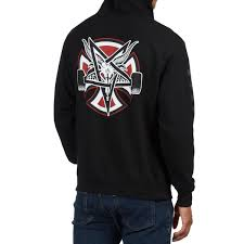 100 Independent Trucks Hoodie X Thrasher Pentagram Cross Black