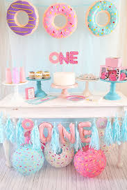Donut First Birthday Party Connoisseurs Of Celebration Pinterest