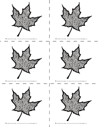 Halloween Thanksgiving Maple Leaves Coloring Pages To Cut And Share