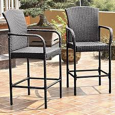Costway 2PCS Rattan Wicker Bar Stool Dining High Counter Chair Patio  Furniture Armrest Rhino White Slatted Resin Fan Back Folding Chair 100 Virgin Resistant To Warping Fading High Plastic Patio Ideas Malta Outdoor Wicker Ding With Cushion By Christopher Knight Home Set Of 2 Highback Stacking Chairs Resin Patio Chair Labtimeco The Depot Luxury Fniture Highquality Kettler Lawn 16 Position Rimini Mulposition Arm Top Brands