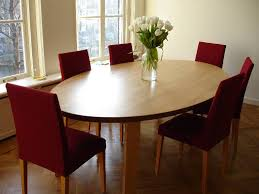 Image Of Wooden Oval Dining Table