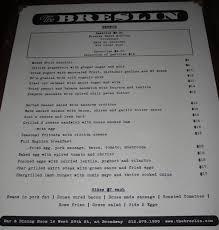 The Breslin Bar Menu by Breslin Brunch Menu Click Image To View Madparknews Com