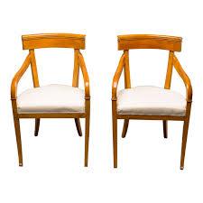 100 Birch Dining Chairs Superior 1930s Biedermeier Style A Pair