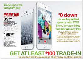 Trade in any working smartphone to an iPhone 6 for $90 w a