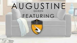 Serta Convertible Sofa With Storage by Serta Dream Convertibles Augustine Queen Youtube