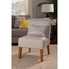 Burke Slipper Chair With Buttons by Homepop Slipper Chair Taupe Cream Target