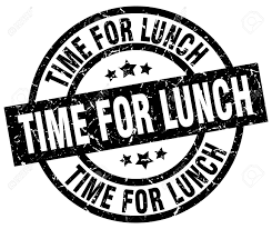 Time For Lunch Round Grunge Black Stamp Stock Vector
