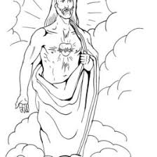 Jesus Sacred Heart Coloring Page