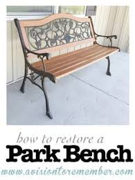 Lowes Garden Variety Outdoor Bench Plans by Diy Painted Park Bench Painted Cherry Blossoms Lowes Has Perfect