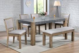 Vibrant Idea Dining Room Bench Cushions Rent To Own Furniture Home Furnishings Table With Acme Ii Dark Gray Rustic Oak 4 Chairs 62