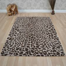 Masai Leopard Print Wool Rugs Free UK Delivery The Rug Seller