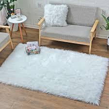 yihaic faux lammfell schaffell teppich modern wohnzimmer