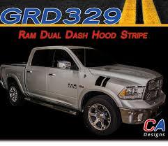 2009-2015 Dodge Ram Dual Dash Hood Stripe Vinyl Striping Graphic Kit ...