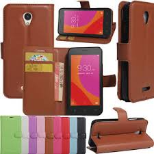 Image is loading PU Leather Flip Stand Wallet Case Cover for