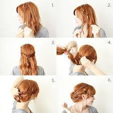 Braided Hair Tuck Steps Step